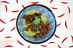 Tofu met broccoli rijst