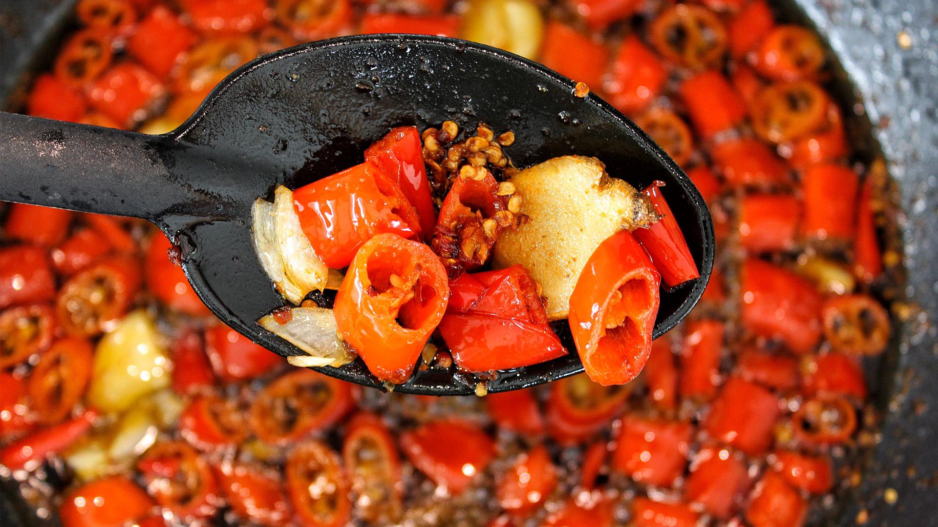 Hete chili olie